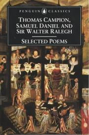 Cover of: Selected Poems of Campion, Daniel and Ralegh (Penguin Classics)