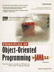 Cover of: Principles of object-oriented programming in Java 1.1
