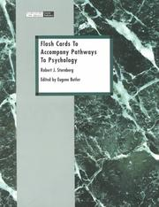 Cover of: Flash Cards to Accompany Pathways to Psychology