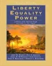 Cover of: Liberty Equality Power