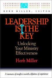 Cover of: Leadership is the key