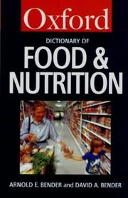 Cover of: A Dictionary of Food & Nutrition (Oxford Paperback Reference)