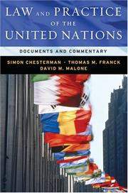 Cover of: Law & Practice of the United Nations: Documents and Commentary