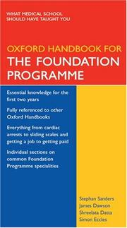 Cover of: Oxford Handbook for the Foundation Programme (Oxford Handbooks S.)