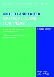 Cover of: Oxford Handbook of Critical Care for PDA (Oxford Handbooks Series)