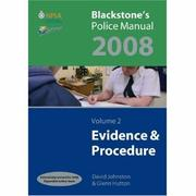Cover of: Blackstone's Police Manuals 2008