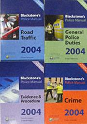 Cover of: Blackstone's Police Manuals