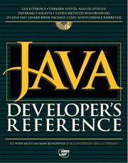 Cover of: JAVA developer's reference