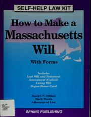 Cover of: How to make a Massachusetts will