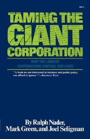Cover of: Taming the Giant Corporation