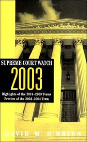 Cover of: Supreme Court Watch 2003