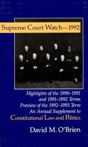 Cover of: Supreme Court Watch 1992