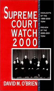 Cover of: Supreme Court Watch 2000: Highlights of the 1999-2000 Term, Preview of the 2000-2001 Term