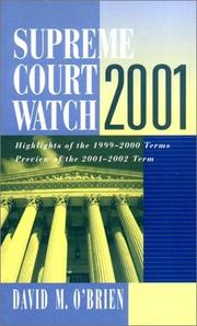 Cover of: Supreme Court Watch 2001: Highlights of the 1999-2000 Terms, Preview of the 2001-2002 Term