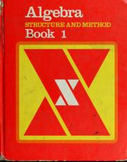 Cover of: Algebra: Structure and Method