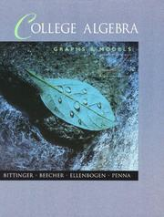 Cover of: College Algebra