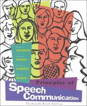 Cover of: Principles of Speech Communication