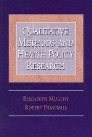 Cover of: Qualitative Methods and Health Policy Research (Social Problems and Social Issues)