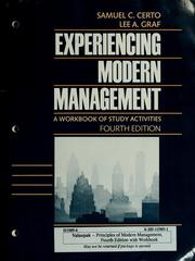 Cover of: Experiencing modern management