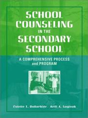 Cover of: School Counseling in the Secondary School