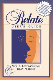 Cover of: Online RELATE Relationship Inventory with User's Manual