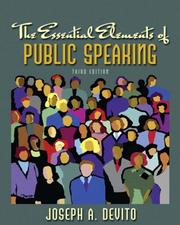 Cover of: Essential Elements of Public Speaking, The (3rd Edition) (MySpeechLab Series)