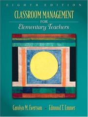Cover of: Classroom Management for Elementary Teachers (8th Edition) (MyEducationLab Series)