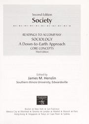Cover of: Society: Readings to Accompany Sociology