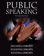 Cover of: Public Speaking (8th Edition) (MySpeechLab Series)