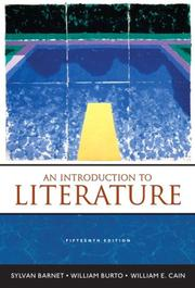 Cover of: Introduction to Literature, An (15th Edition)