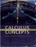 Cover of: Calculus Concepts