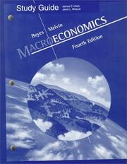 Cover of: Macroecomomics