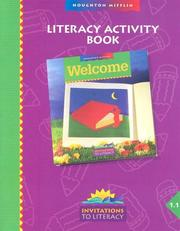 Cover of: Literacy Activity Book Level 1.1 (Invitations to Literacy)