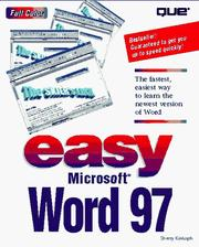 Cover of: Easy Microsoft Word 97