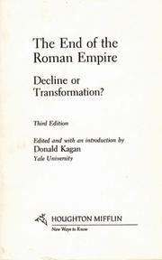 Cover of: The End of the Roman Empire [Docutech]