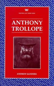 Cover of: Anthony Trollope