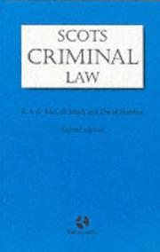 Cover of: Scots Criminal Law