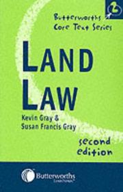 Cover of: Land Law (Butterworths Core Texts)