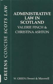 Cover of: Administrative Law in Scotland (Green's Concise Scots Law)