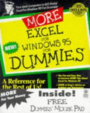 Cover of: More Excel for Windows 95 for dummies