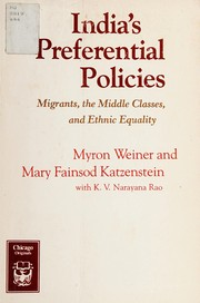 Cover of: India's preferential policies