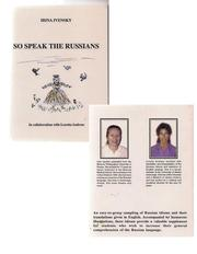 Cover of: So speak the Russians