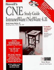 Cover of: Novell's CNE study guide IntranetWare/NetWare 4.11
