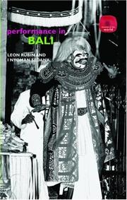 Cover of: Balinese Performance (Theatres of the World)