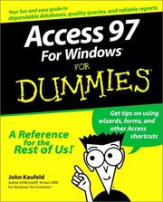 Cover of: Access 97 for Windows for dummies