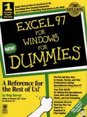 Cover of: Excel 97 for Windows for dummies