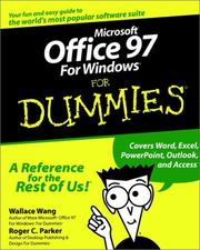 Cover of: Microsoft Office 97 for Windows for dummies
