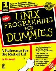 Cover of: UNIX programming for dummies