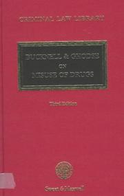 Cover of: Misuse of Drugs (Criminal Law Library)