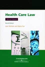Cover of: Health Care Law